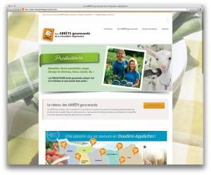 Le site web des ARRÊTS gourmands.