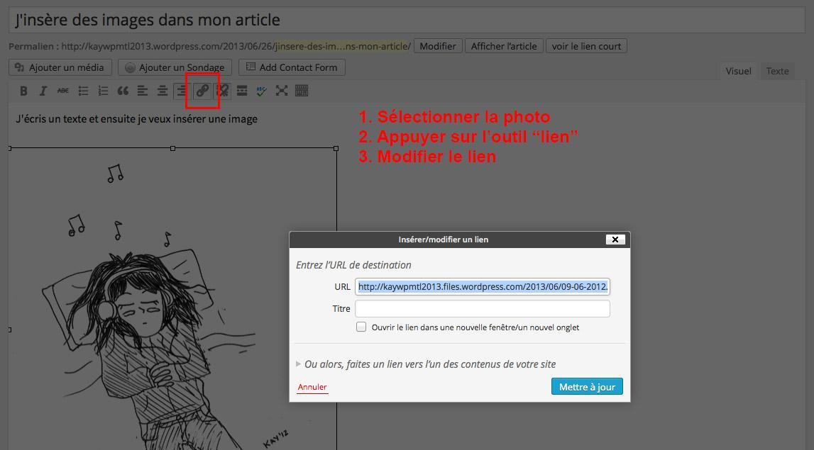 Étape 06 - Insérer une image dans WordPress
