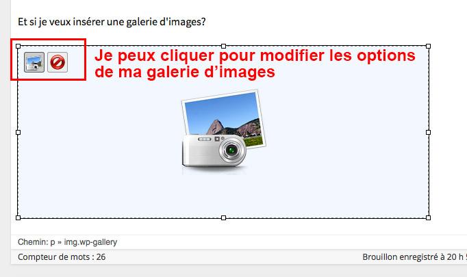 Étape 09 - Insérer une galerie d'images