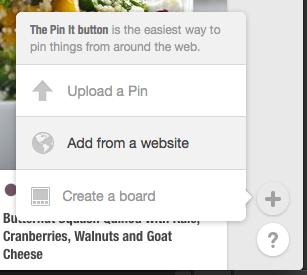Pinterest ajouter à partir d'un site web